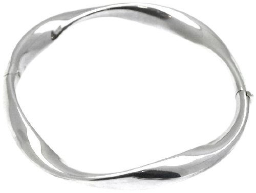Silver Plain Twisted Bangle