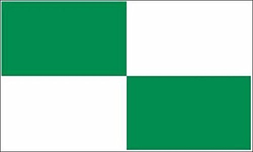 U24 Fahne Flagge 4 Karo Grün-Weiß 90 x 150 cm