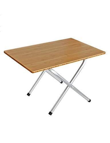 JZX Tisch-Klapptisch Qualität Bambus Oberfläche Outdoor Home Dual-Use-Esstisch Arbeitstisch