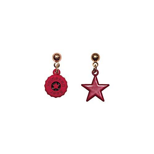 NKJBUVT Mini Fashion Joker Persönlichkeit Red Fun Star Caps Ohrstecker Ohrringe Frauen