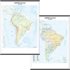 America Sud scolastica murale 1:10.000.000