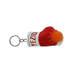 Akacha Schlüsselanhänger Boxhandschuh mit jesidischer Flagge