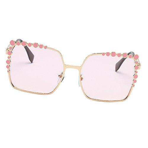 P Prettyia Damen Sonnenbrille Vintage Brille 7 verschiedene Farben wählbar - Hell-Pink