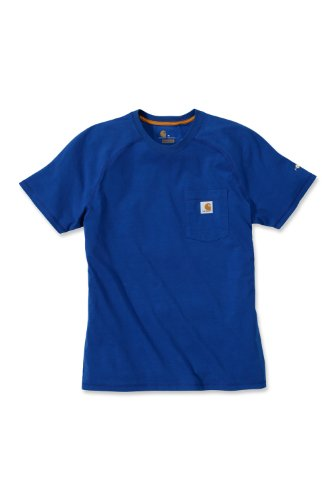 Carhartt Force® Cotton Short Sleeve T-Shirt Baumwolle mit Brusttasche 100410 Blau