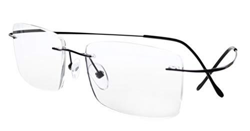 Eyekepper Titan randlose Brillen Herren Schwarz