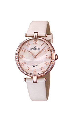 Candino - C4602/3 - Montre Femme - Quartz - Analogique - Bracelet Cuir beige