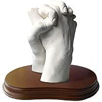 Escultura Realista de las Manos en 3D para Parejas - Peana Incluida