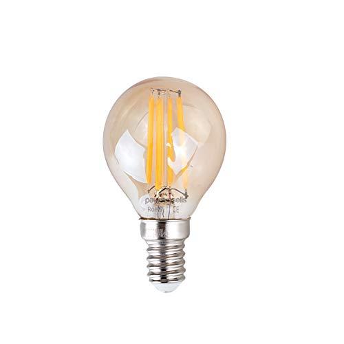 Retro-LED-Leutchtmittel, kleine Edisonfassung, Bernstein, Bronze, 2W, G45,klein, rund, 360 +deg;Abstrahlwinkel, E14,SES, 2200K, warmes Weiss, 25W, 3 Stück - Bronze 2-glühbirne