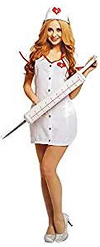 PICCOLI MONELLI Costume Infermiera Sexy Donna Vestito Dottoressa di Carnevale Hot tg s 155 165 cm