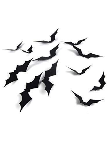 Home Party 3D Bat 1 Satz / 3 Stücke Dekoration Wandaufkleber Wandaufkleber Dekoration, Halloween Wandaufkleber Produkt ()