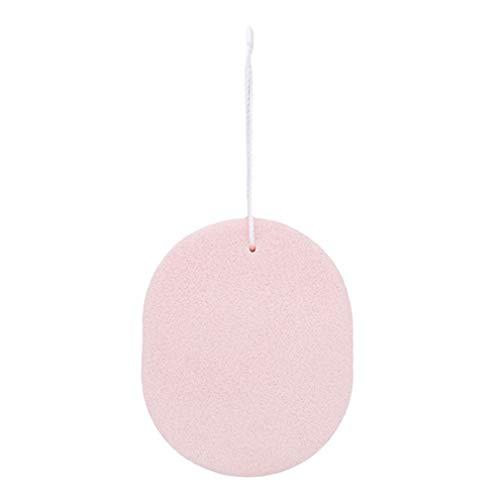 LnLyin Gesicht Waschen Reinigung Pad Kosmetische Schwamm Puff Natürliche Bad Pad mit String für Reinigung und Peeling Empfindliche Haut, Rosa -