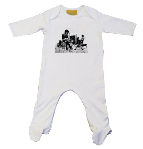 Rolling Stones-Baby Grow, colore: bianco Bianco bianco 0-3