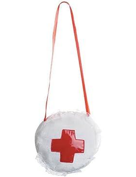 Krankenschwester Tasche, Reisverschluss, Spitzenverzierung, Erste Hilfe Kreuz