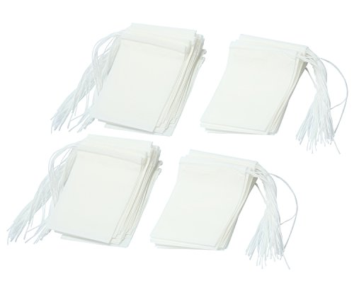 niceeshop(TM) Disposable Drawstring Seal Filter Empty Paper Tea Bags (White,M Size,Set of 100) Test