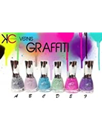 1 VERNIS GRAFFITI MATE 16 ML 6 COULEURS MAQUILLAGE BEAUTE