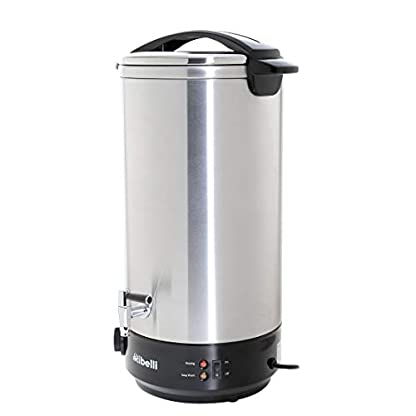Glhweinkocher-22-Liter-Heigetrnkespender-Edelstahlgehuse-ideal-als-Heisswasserspender-o-Glhweintopf-mit-Metall-Auslaufhahn-Leistung-1650-Watt
