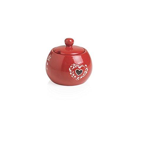 Brandani 54084 Sucrier enchantement Rouge en grès cm d 10,5 x 10h