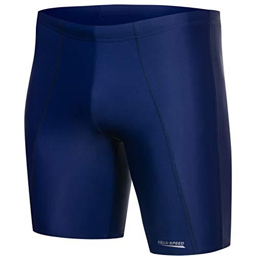 Aqua Speed Long Troncos de natación Largo de Hombre | Ajuste Jammer | Protección UV |...