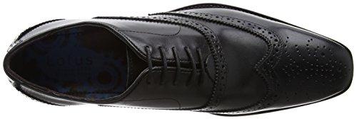 Black Bishop Black Black Uomo Leather Black Lotus Brogue Scarpe Uomo Scarpe Brogue Lotus Bishop Leather wU5nqHH8AT