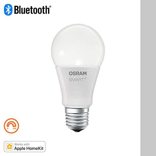 Osram Smart+ Lampadina LED Bluetooth Compatibile con Apple Homekit e Android Goccia, E27, 60W Equivalenti, Dimmerabile