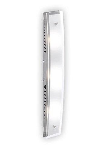 Wandleuchte LED Nickel matt Glas 3-flammig 210763 Deckenleuchte Spot Design Lampe Leuchte Beleuchtung