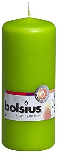 Bolsius-Candela Pillar 103614600174, di paraffina, colore: verde