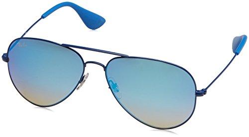 Ray-Ban Unisex-Erwachsene Sonnenbrille Rb 3558 Elettric Blue/Mirrorgradientblue, 58