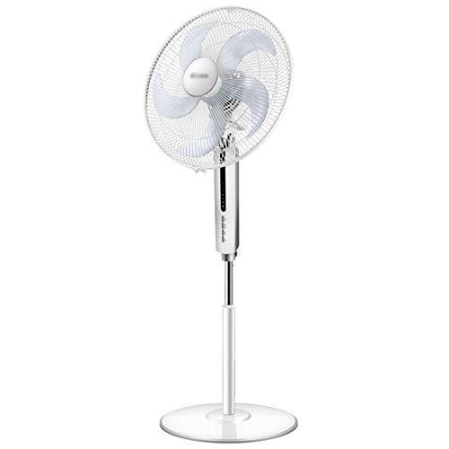 Elektrischer Ventilator 16-Zoll Home Floor Fan Energieeffiziente Fernbedienung Ultra-Leise Vertikale Luftzirkulation Fan, Weiß