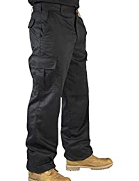 052eeb6ee5758c Mens Combat Cargo Work Trousers Size 30 To 52 With Knee Pad Pockets - by BKS