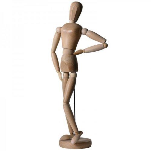 Artina Gliederpuppe Dali Größe 20 cm weibliche Zeichenpuppe aus Holz Malhilfe zum Zeichnen Modellpuppe mit Gelenken