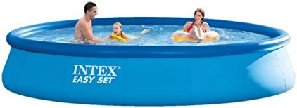 Intex 12357 Easy Set Pool 457cmx84cm, blau