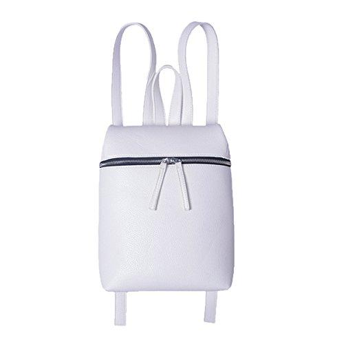 Zaino Da College Universitario Per La Signora Lady Fashion White