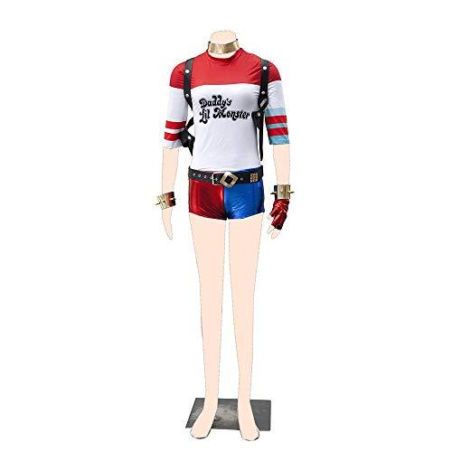 Dream2Reality Suicide Squad Cosplay Kostuem Harley Quinn Ver.1 Cloth Kid (Harley Quinn Videospiel Kostüm)