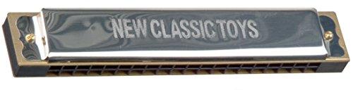 New Classic Toys NCT 0021 - Musikinstrument - Mundharmonika - 10 Löcher mit 20 spielbaren Tönen