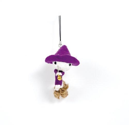 Voodoo/Gag/Gimmick/Hingucker: Handy-/Schlüsselanhänger Vodoodoo-Puppe KLEINE HEXE - Weisheit und Mut