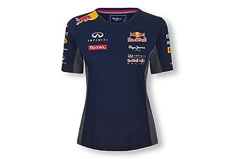 Red Bull Racing T-Shirt pour Femme, Bleu Marine, 38