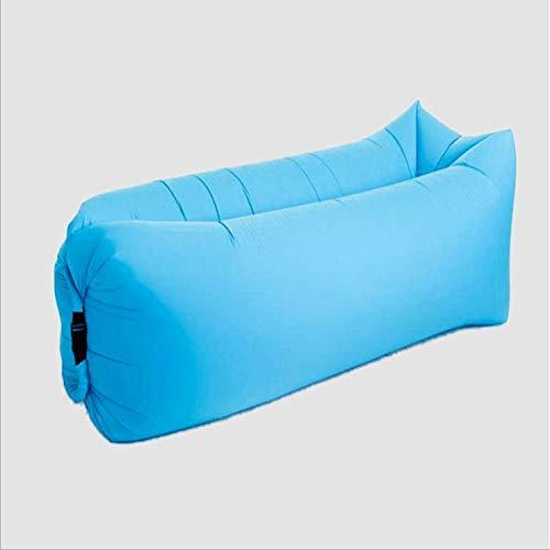 DIIYer-Bu Luft-Sofa Bett tragbar Lazy Air Lounger Sofa Couch Schlafsack Liege mit Kopfstütze aufblasbare Matratze, 240 x 70 cm