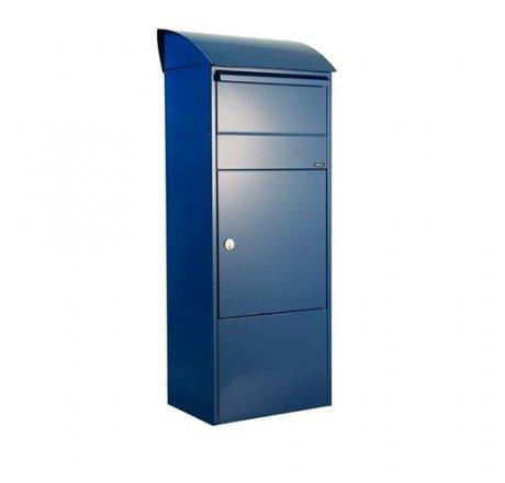 Paketbriefkasten Allux 820 mit gewölbtem Dach, blau