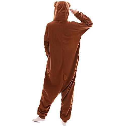 (HLDUYIN Erwachsene Pyjamas - Plüsch Einteiler Cosplay Tierkostüm Tier Onesie (S-XL),M)