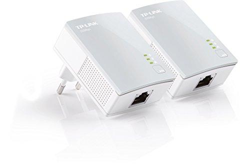 TP-Link TL-PA4010 KIT AV600 Powerline Netzwerkadapter (600Mbit/s, 1 Port, energiesparend, Plug & Play, kompatibel mit Adaptern anderer Marken, 2er Set) weiß