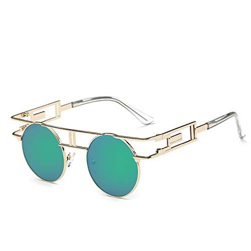 YUHANGH Klar Mode Gold Runde Rahmen Brillen Für Frauen Vintage Steampunk Runde Gläser Für Männer Männlich