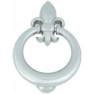 Atlas Homewares DK636-BRN Fleur D'Lys Brushed Nickel 6-Inch Door Knocker by Atlas Homewares