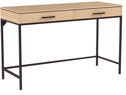 Sekey Home Computertisch | Schreibtisch | PC-Tisch für BüRotisch, Laptop Tisch, Arbeitsplatz mit 2 Schubladen, Arbeitstisch fürs Büro, Wohnzimmer, Leicht Montiert,Lintel Oak