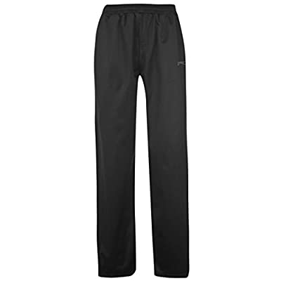 Slazenger Mens Poly Pants Gents Sports Training Running Tracksuit Bottoms