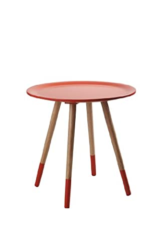 Zuiver 2300006 Two Tone Table Base Orange 48 x 48