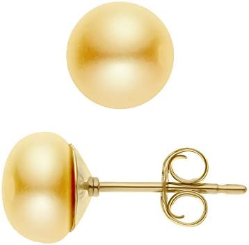 Pearls & Colours - Pendientes de oro amarillo con perla