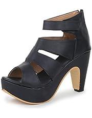 Funku Fashion Women's Gladiator Block Heel