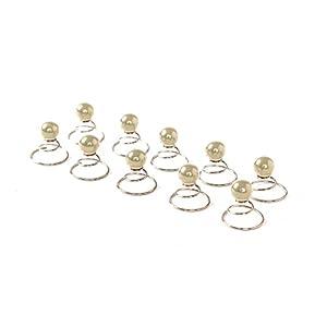 10 x Perlen Curlies – Haarschmuck Brauthaarschmuck – 10PC