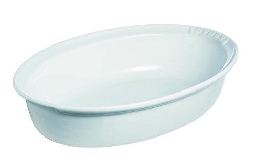 Auflaufform Ovale Pyrex (Pyrex Impressions Ovale Bratpfanne, Rechteckig, Keramik, Weiß, 34 x 23)