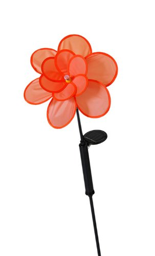 trendfinding LED Solar Windspiel Windrad Blume Party Garten Deko Dekoration Teichdeko Teich Beleuchtung orange | Garten > Dekoration > Windräder | trendfinding